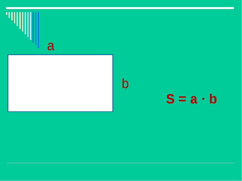 a b S = a · b