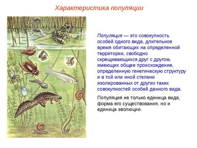 Популяция — это совокупность особей одного вида, длительное время обитающих н...