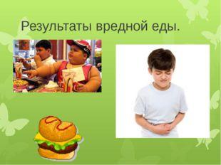 Результаты вредной еды.