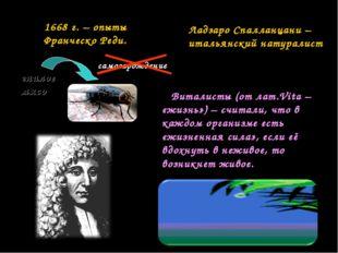 Виталисты (от лат.Vita – «жизнь») – считали, что в каждом организме есть «жи