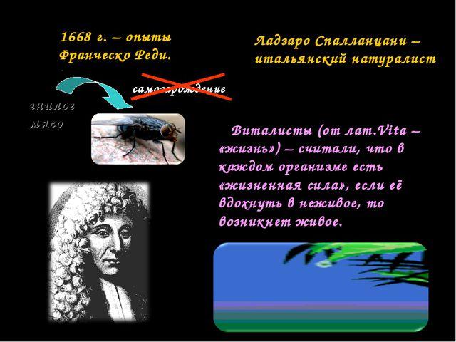 Виталисты (от лат.Vita – «жизнь») – считали, что в каждом организме есть «жи...
