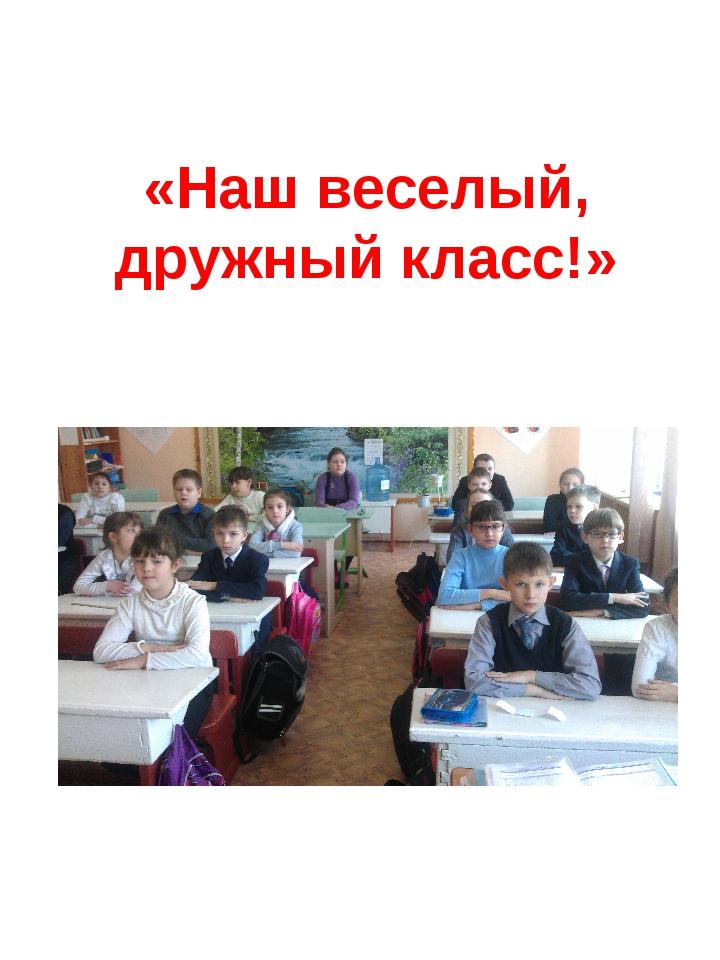 «Наш веселый, дружный класс!»