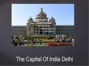 The Capital Of India Delhi