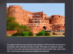 The capital of India has many attractions like mosques, FORTS and other monum