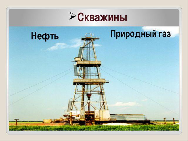 Скважины Нефть Природный газ