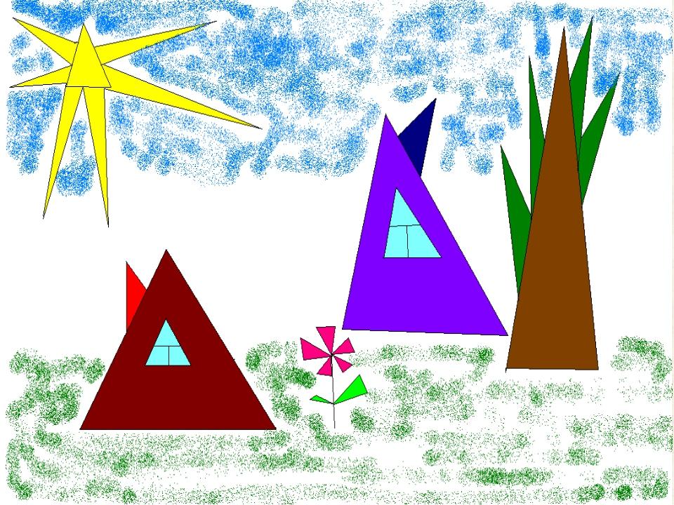 Ноки, рисунки треугольников прикольные