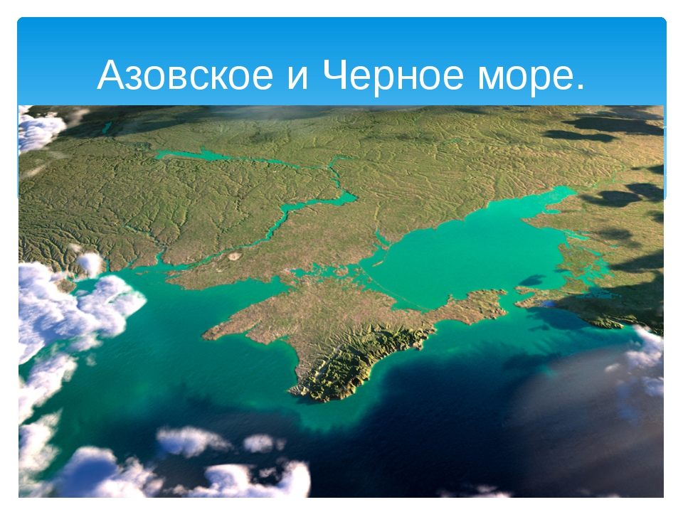 Азовское и Черное море.