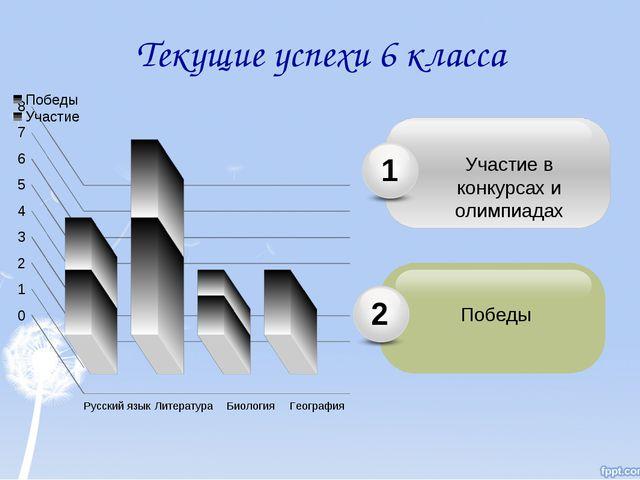 Текущие успехи 6 класса Победы 2 Участие в конкурсах и олимпиадах