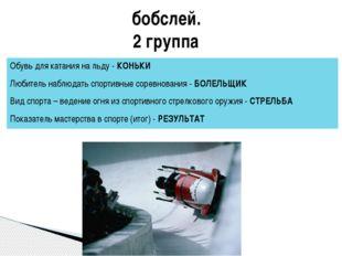 бобслей. 2 группа Обувь для катания на льду -КОНЬКИ Любитель наблюдать спорти