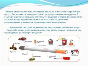 Табачный дым не только вдыхается курильщиком, но и поступает в окружающий во
