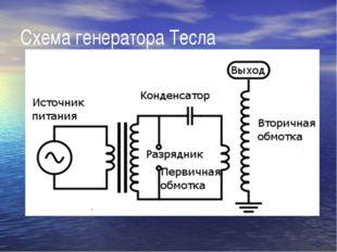 Схема генератора Тесла