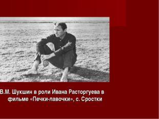 В.М. Шукшин в роли Ивана Расторгуева в фильме «Печки-лавочки», с. Сростки