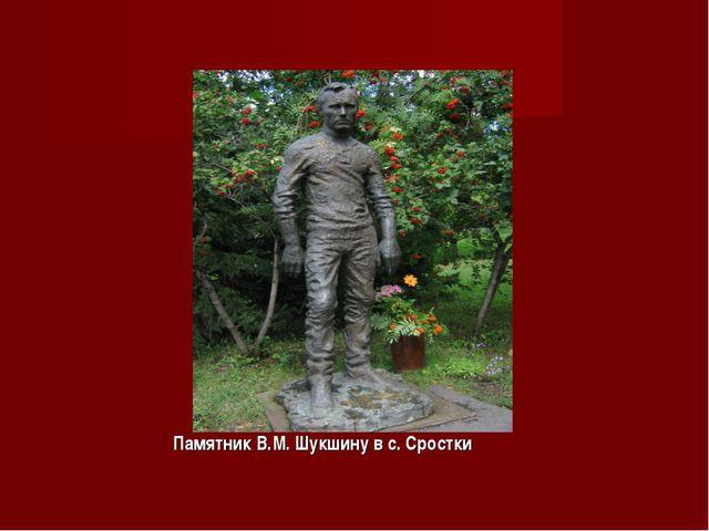 Памятник В.М. Шукшину в с. Сростки
