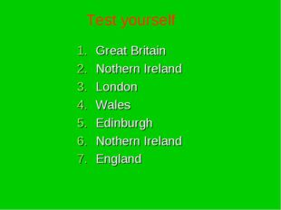 Great Britain Nothern Ireland London Wales Edinburgh Nothern Ireland England