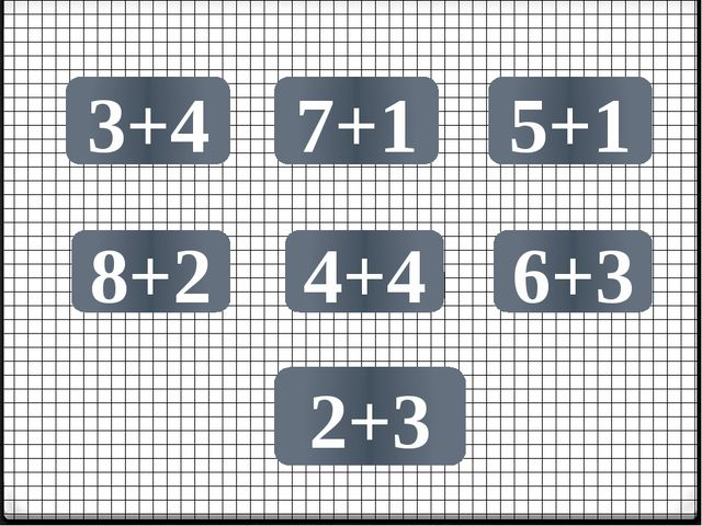 3+4 7+1 8+2 5+1 4+4 2+3 6+3