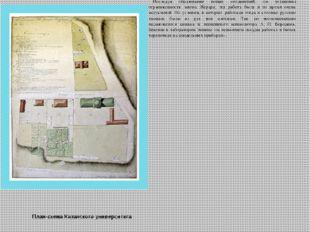 План-схема Казанского университета Закончив Казанский Университет в 1849 году