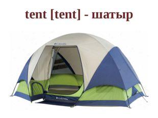 tent [tent] - шатыр