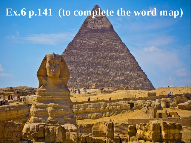 Ex.6 p.141 (to complete the word map)