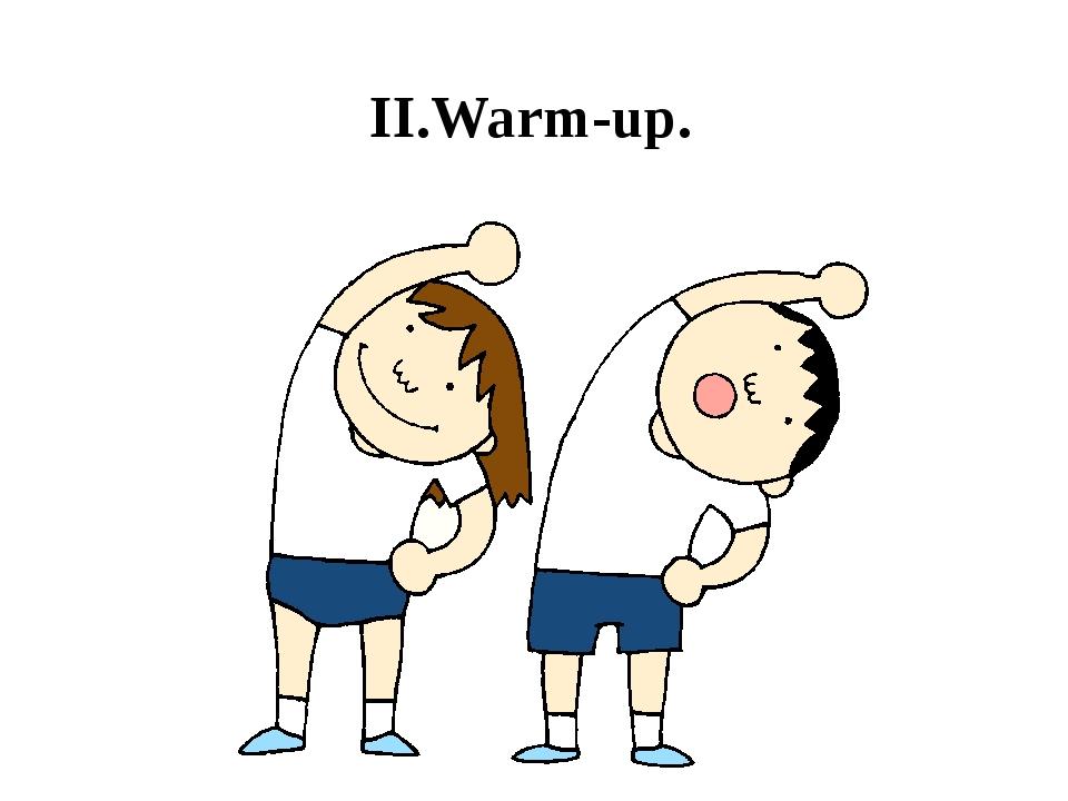 Warm up spiele