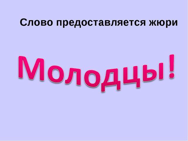 Слово предоставляется жюри Туголукова С.А. МОУ сош № 24 Комсомольск на Амуре