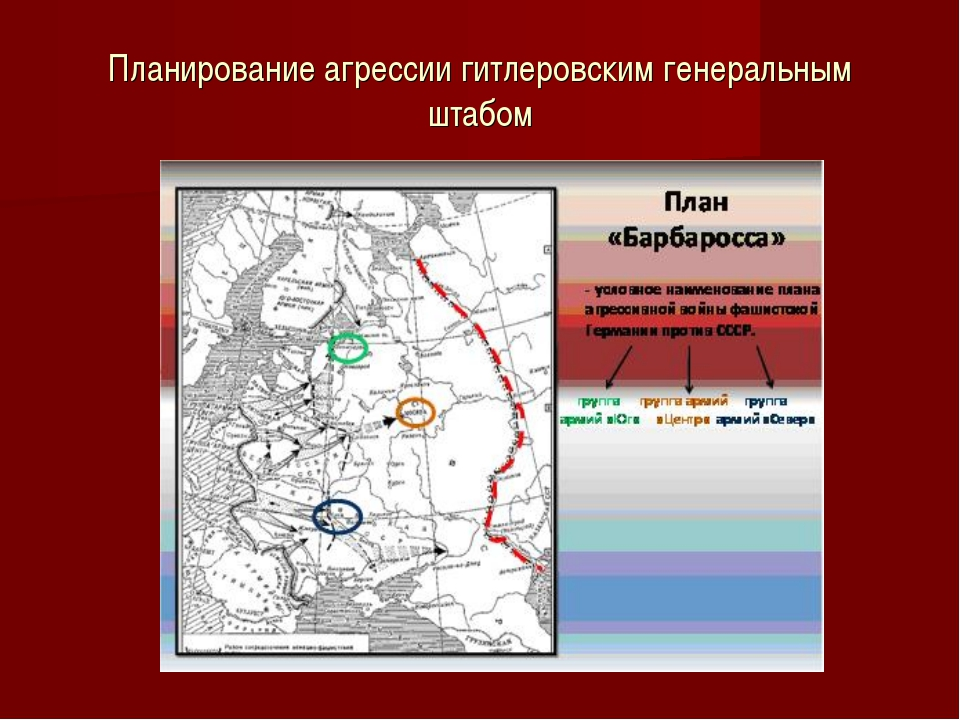 Планирование агрессии гитлеровским генеральным штабом