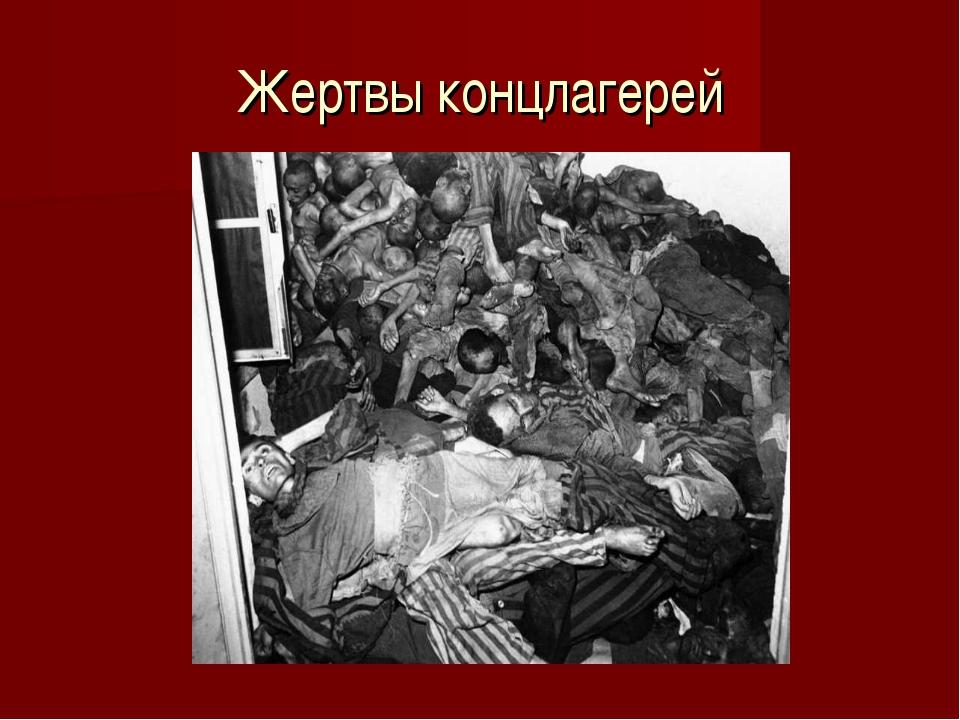 Жертвы концлагерей