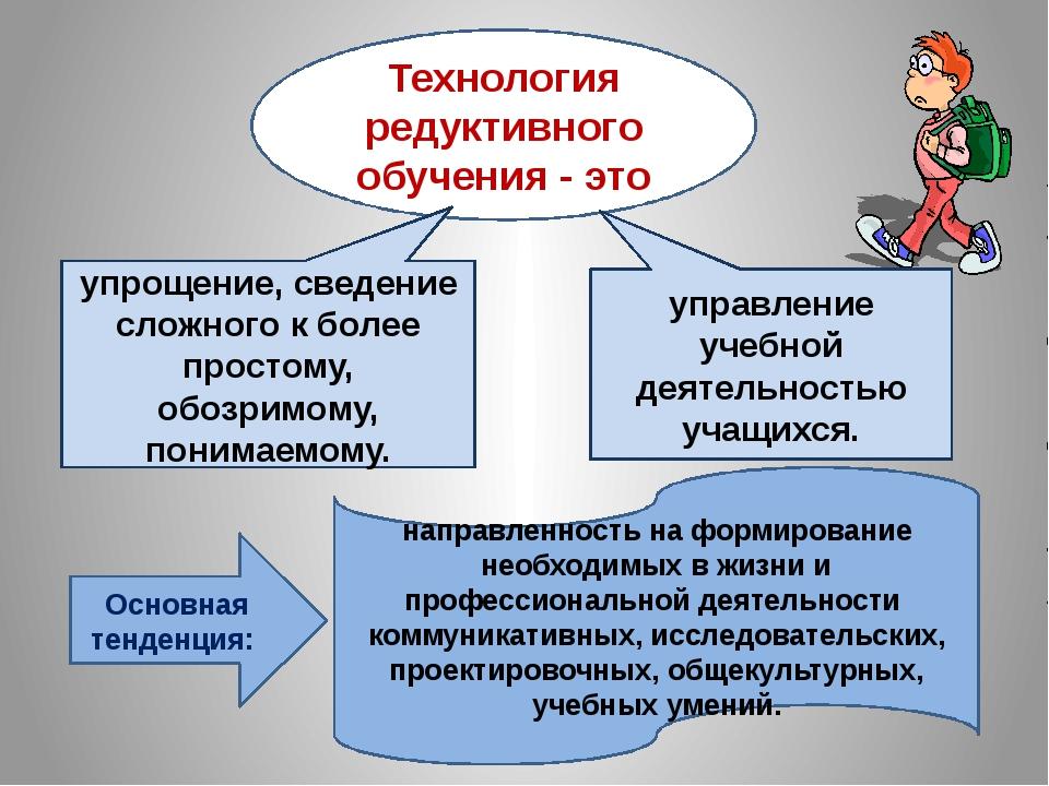 Технология редуктивного обучения - это управление учебной деятельностью учащи...