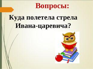 Вопросы: Куда полетела стрела Ивана-царевича?