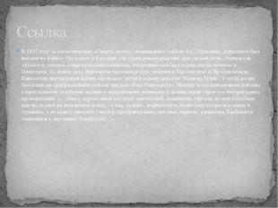 В 1837 году за стихотворение «Смерть поэта», посвящённое гибели А.С. Пушкина,