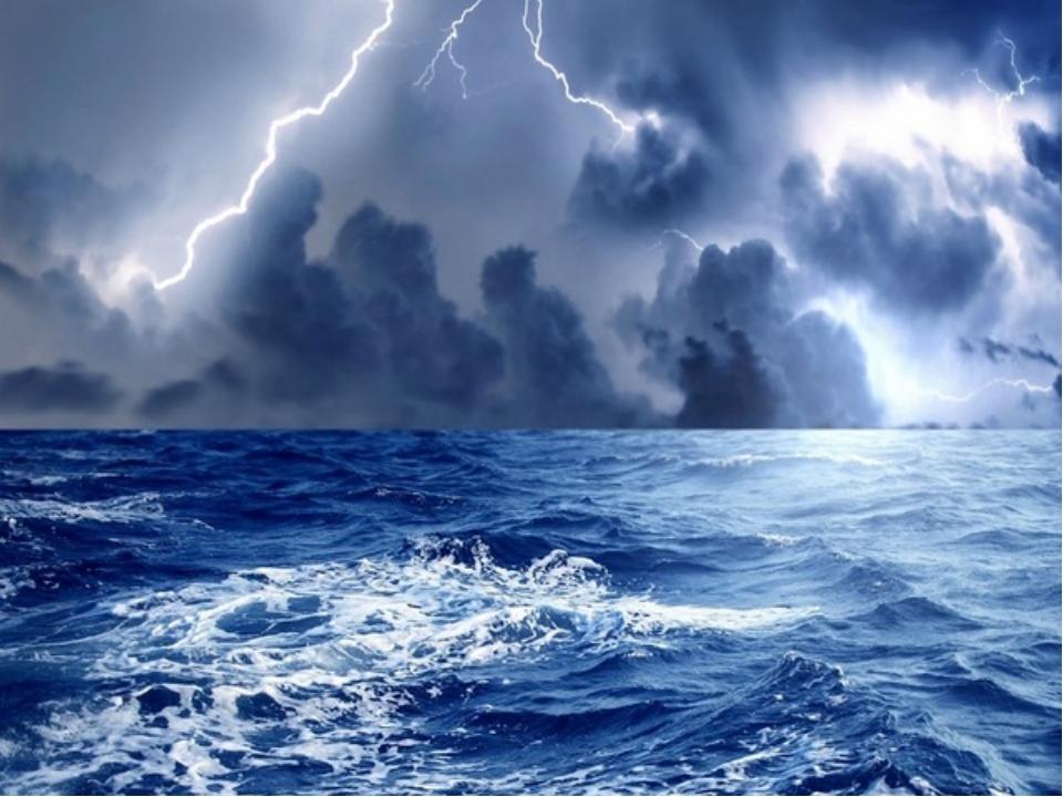 Явления природы в океанах и морях Шторм