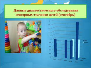 Данные диагностического обследования сенсорных эталонов детей (сентябрь)