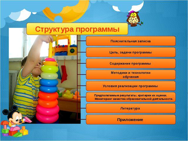 Структура программы Пояснительная записка Цель, задачи программы Содержание...