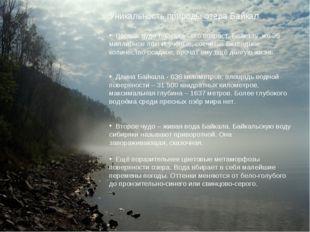 Уникальность природы озера Байкал. Первое чудо Байкала - его возраст. Байкалу