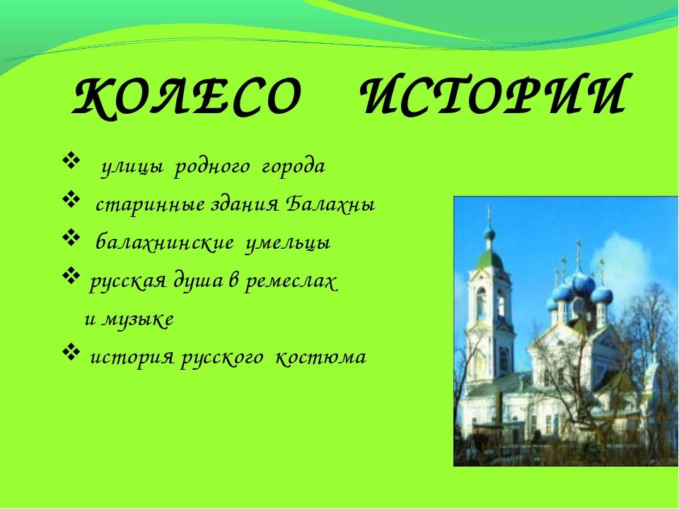 КОЛЕСО ИСТОРИИ улицы родного города старинные здания Балахны балахнинские ум...