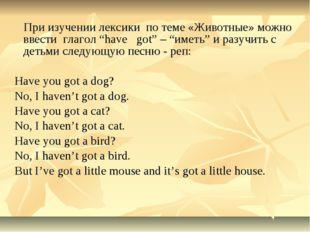 """При изучении лексики по теме «Животные» можно ввести глагол """"have got"""" –"""