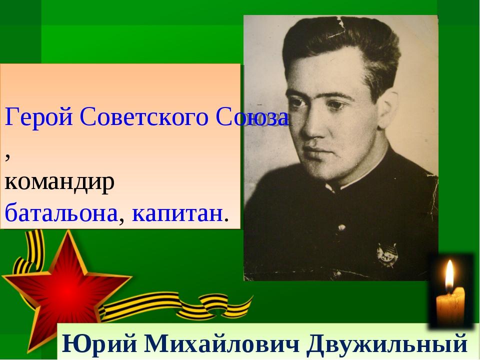 Юрий Михайлович Двужильный Герой Советского Союза, командир батальона, капитан.