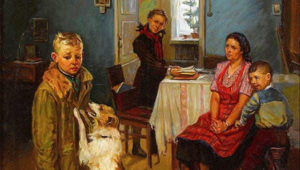 Первую версию картины Опять двойка купил фонд Филатовых Базовый портал