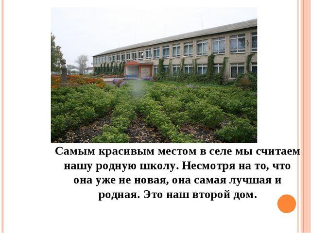 Самым красивым местом в селе мы считаем нашу родную школу. Несмотря на то, чт...