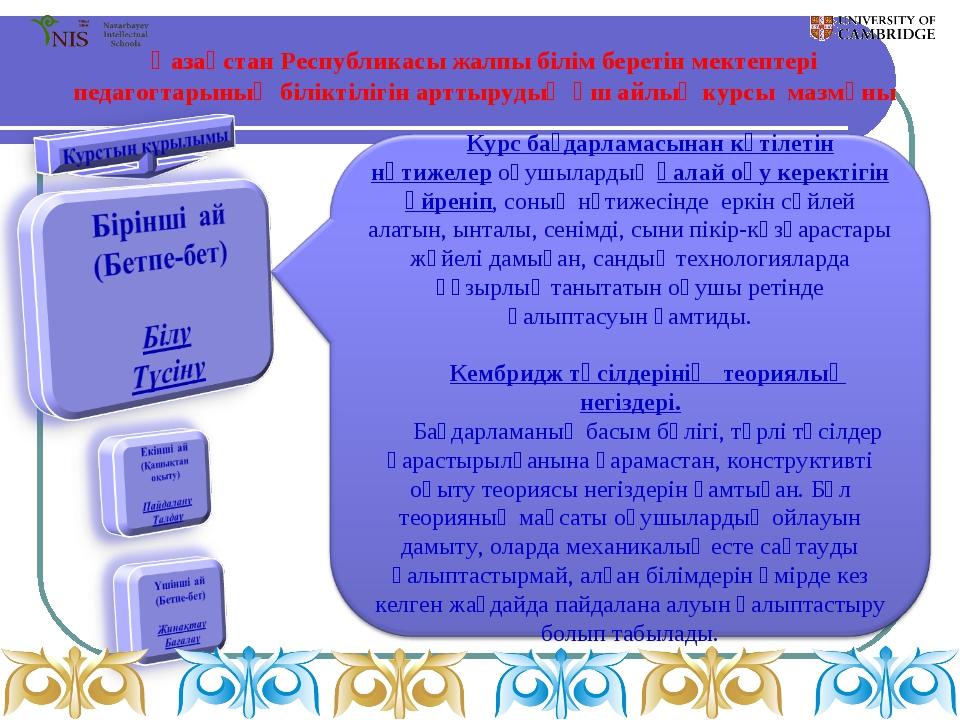 Қазақстан Республикасы жалпы білім беретін мектептері педагогтарының біліктіл...