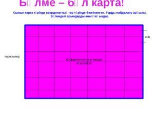 Бөлме – бұл карта! есік терезелер Сынып карта түрінде координаттық тор түрінд