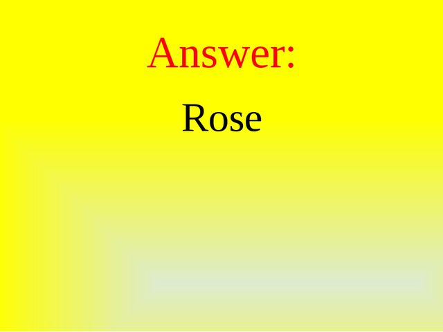 Answer: Rose