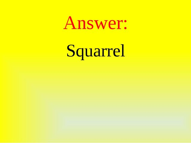 Answer: Squarrel