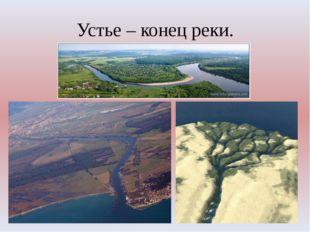 Устье – конец реки.