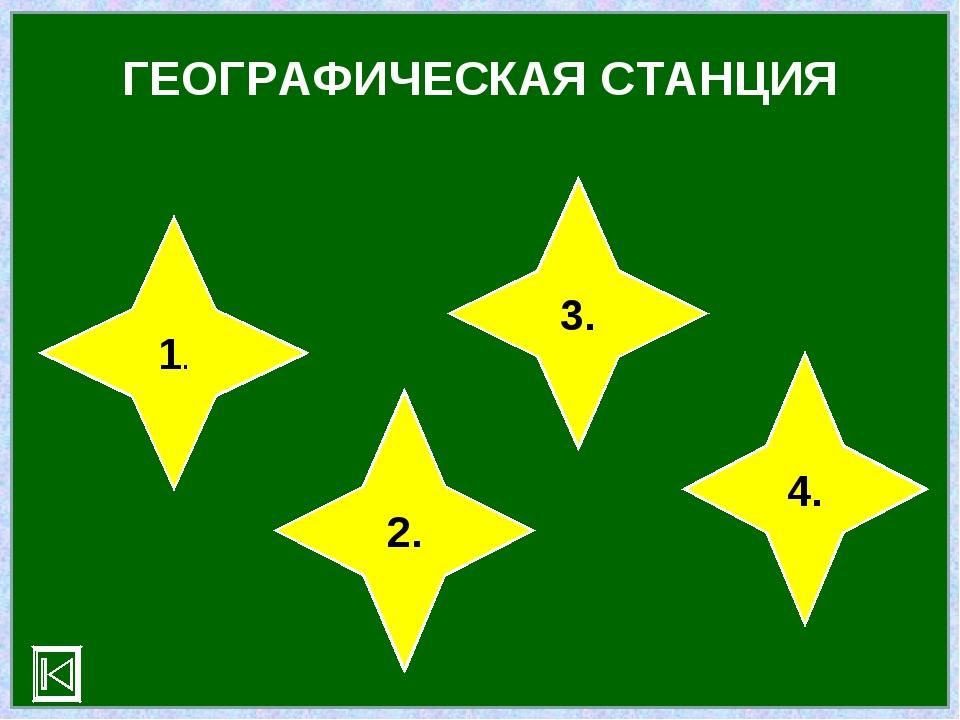 ГЕОГРАФИЧЕСКАЯ СТАНЦИЯ 1. 2. 3. 4.