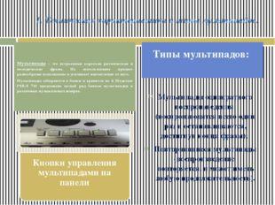 1. Техническая характеристика и типы мультипадов. Мультипады однократного вос