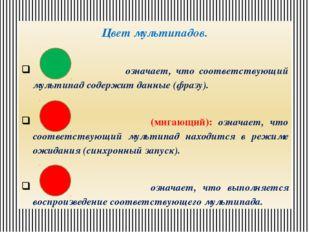 Цвет мультипадов. означает, что соответствующий мультипад содержит данные (фр
