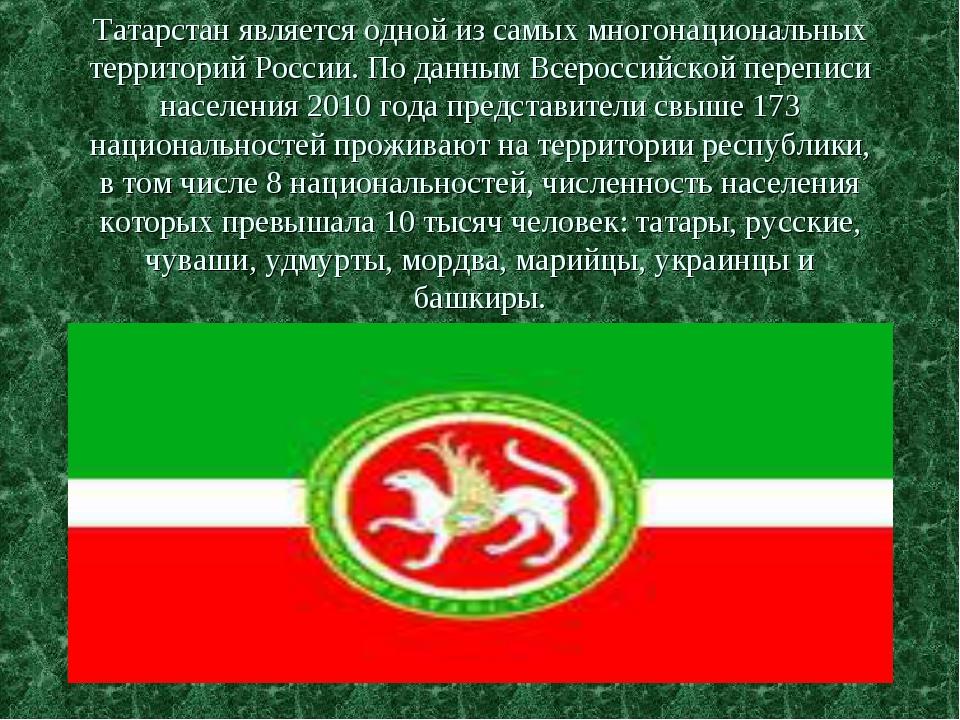 Татарстан является одной из самых многонациональных территорий России. По дан...