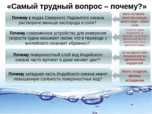 «Самый трудный вопрос – почему?» Почему в водах Северного Ледовитого океана р