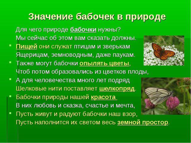 Значение бабочек в природе Для чего природе бабочки нужны? Мы сейчас об этом...