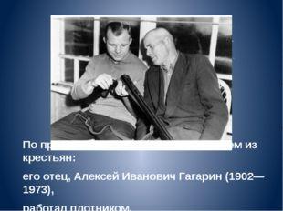 По происхождению является выходцем из крестьян: его отец, Алексей Иванович Га